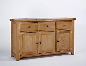 Devon Oak 3 Door 3 Drawer Sideboard