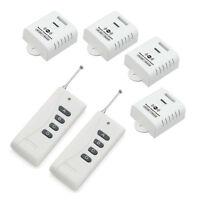 AC 100-240V 1000W 4X1CH 4 Relays Wireless Remote Control Switch RF 2 Transmitter