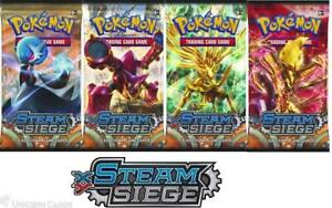 Pokemon XY Steam Siege 4 Booster Packs - All 4 Types - Brand New And Sealed!