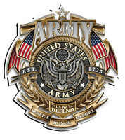 """United States Army Service Honor Sacrifice Decal 3"""" in size Free Shipping"""
