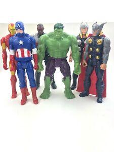 Lot of 6 Marvel Avengers 12 Inch Super Hero Action Figures - Hasbro