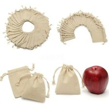 30Pcs 10cm Burlap Bag Linen Jewellery Drawstring Pouch Ring Bead Mini Candy Gift