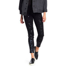 Level 99 Womens Janice Black Citylights Speckle Iridescent Print Jeans NWT Sz27