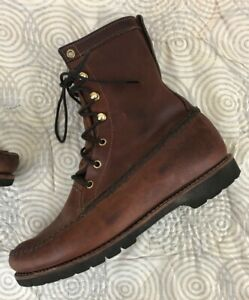 Vintage ORVIS Chukka Boots Brown Leather Made In The USA Sz 10.5 D