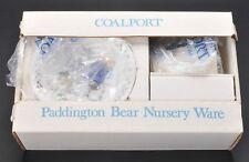 Coalport Paddington Bear 3 Piece Nursery Ware wi Box 1974 Unused