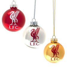 Liverpool FC Baubles with Team Crest Liverpool Christmas Baubles Pack of 3
