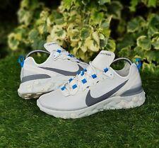 ❤ BNWB & Genuine Nike ® React Element 55 Light Bone & Grey Trainers UK Size 9.5