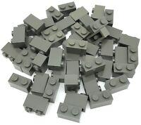 Lego 50 New Classic Dark Gray 1 x 2 Dot Building Blocks Pieces