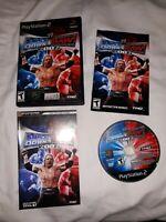 WWE SmackDown vs Raw 2007 PS2 PlayStation 2 Mini Guide Complete Rare Black Label