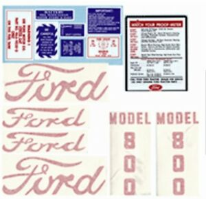 FORD 800 TRACTOR COMPLETE DECAL SET