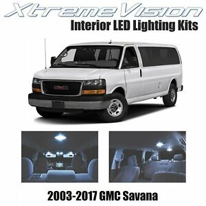 XtremeVision Interior LED for GMC Savana 2003-2017 (10 PCS) Cool White