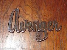 "Hillman ""Avenger"" chrome plated metal CAR BADGE, 3 15/16"" long, FREE POST"
