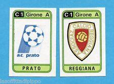 PANINI CALCIATORI 1983/84 -Figurina n.408- PRATO+REGGIANA - SCUDETTO -Rec