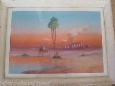 Peinture orientaliste des années 20 signé