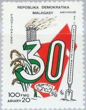Madagascar Malagasy 1990 1268 982 30 Ann Independence unabhängikeit mnh