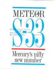 1962 Mercury Meteor S-33 Original Dealer Sales Brochure