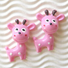 "US SELLER - 10 pcs x 1.25"" Resin Spring Deer Baby Flatback Bead Appliques SB538P"