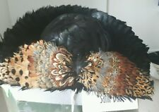 WORLD FAMOUS ANN ALBRIZIO FEATHER HAT HANDMADE! VERY RARE, VERY DETAILED!