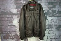 Mens Superdry Brown leather Jacket Size XL No.Z651 2/11