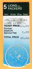 1/2/83 PACKERS/LIONS FOOTBALL TICKET STUB