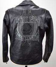 HARLEY DAVIDSON WILLIE G TRIBLE SKULL BLACK LEATHER MOTORCYCLE JACKET MENS M