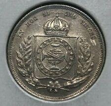 1857 Brazil 200 Reis - Silver