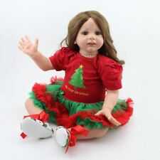 24'' Handmade Vinyl Silicone Newborn Toddler Girls Doll Reborn Baby Dolls Toys