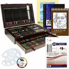 US Art Supply 162 Piece-Deluxe Mega Wood Box Art, Painting  Drawing Set That