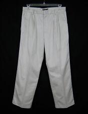 Dockers D3 Pleated Pants Men Size 33x30 Gray Khaki Classic Fit Comfort Waist