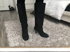 Bottes cavalières cuir gris noir Office 38 39sac Ash heels pull on boots 5 6
