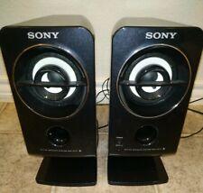 Sony Active Speaker System SRS-A212 DC-6V Serial #2058723 Computer Desk Black