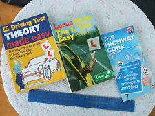 3x HIGHWAY CODE/PASS YOUR THEORY TEST/PASS DRIVING TEST. GOOD COND