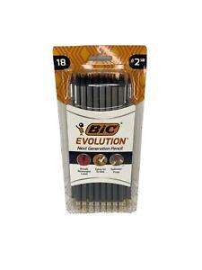 Bic Evolution Pencil, HB (#2), Black Lead, Gray Barrel, 18/Pack (BICPGEBP241)