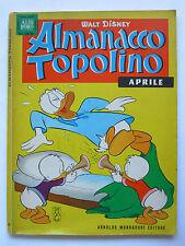 ALMANACCO TOPOLINO N. 4 APRILE 1963 WALT DISNEY ALBI D'ORO CON FIGURINE