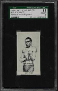 1938 CARTLEDGE RAZOR # 16 JEM MACE 88 NM/MT 8 SGC FAMOUS PRIZE FIGHTERS
