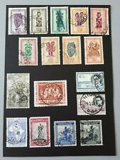 timbres Congo-Belge 1944 - 1959 masques