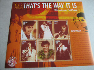 """LIBERIA     30th ANNIVERSARY  ELVIS PRESLEY """"THAT'S THE WAY IT IS """"   SHEETLET"""