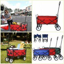Collapsible Outdoor Utility Wagon Trolley Folding Portable Hand Cart Camp Garden