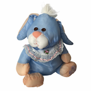 """Vintage Limited Edition Fisher Price PUFFALUMP Blue Easter Bunny Rabbit 11"""""""