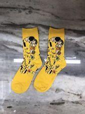 Yellow Abstract Art Socks One Size USA Shipping
