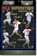 BASEBALL POSTER MLB Superstars 2011 Mauer Pujols Jeter