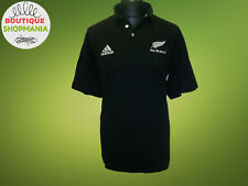All BLACKS New Zealand Home 2000-2002 2XL Chest 130 CM Adidas Rugby Union Shirt