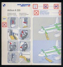 AIR FRANCE airline SAFETY CARD Airbus A 320 airlines brochure 03/02 ee e681