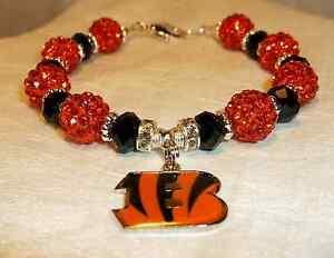 Cincinnati Bengals~B Logo Charm~Bracelet~Jewelry~A.J. Green~Andy Dalton~Bling!