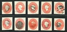 CANADA QV POSTMARKS CORK + COLOURED TYPES SELECTED on POSTAL STATIONERY 10 ITEMS