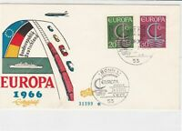 germany 1966 europa stamps cover ref 20256