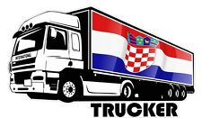 International Camionista Camionista & Croazia Bandiera CROATO Auto Adesivo truckvan