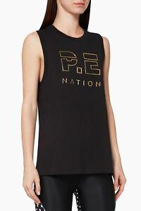 NWT**Pe Nation**Navigate Raised-logo Tank Top Organic Cotton Muscle Singlet S/10