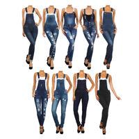 Bonage Fashion Designer Women's Denim Blue Jean Overall Jumpers