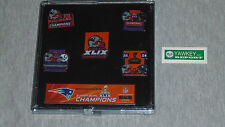 NFL New England Patriots Super Bowl 49 Champions 5 Pin Set FREESHIP Brady
